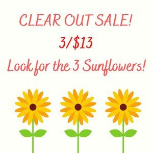 SUMMER CLEAR OUT SALE! 🌻🌻🌻3/$13